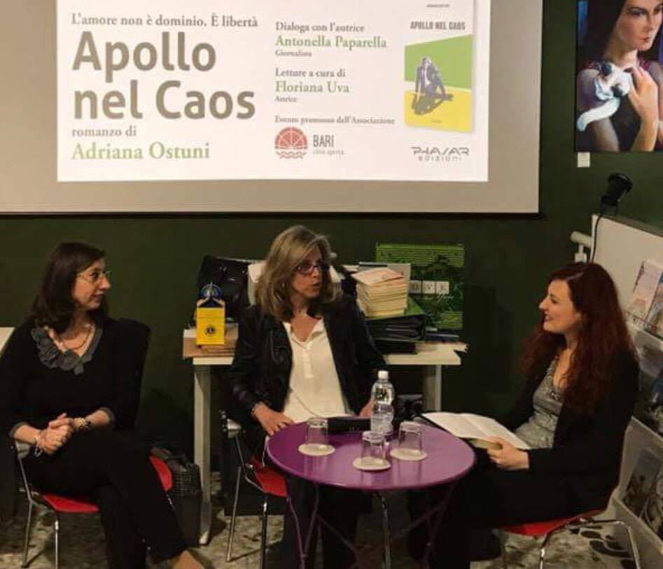 Apollo nel Caos presso Di Marsico Libri, con Floriana Uva e Antonella Paparella